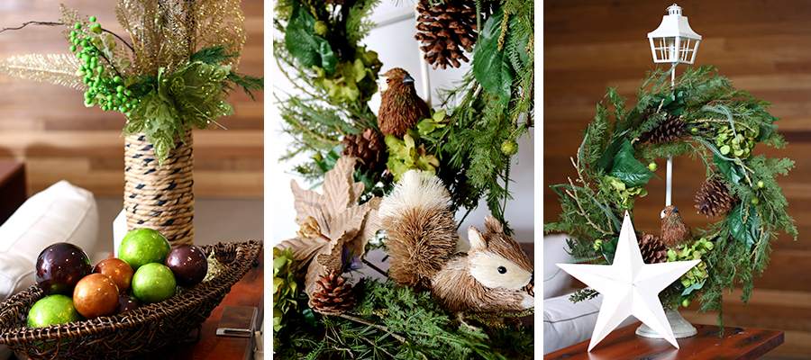 fresh forest christmas decorations