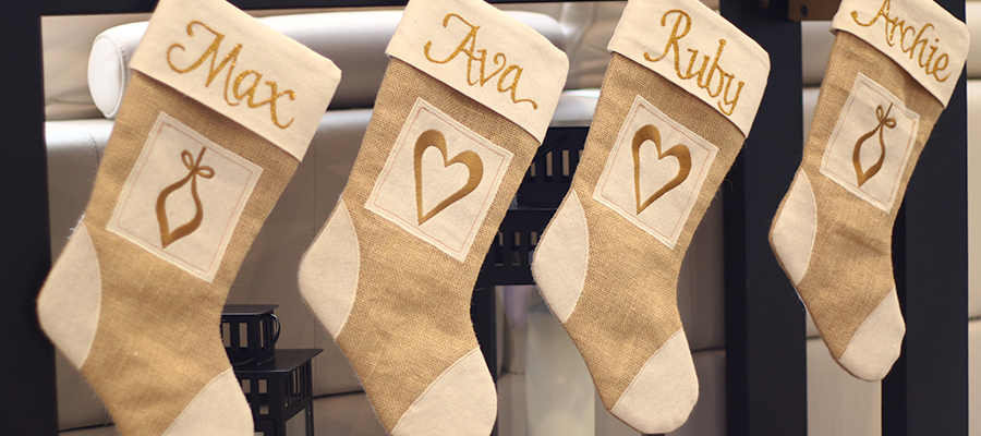 fresh forest christmas personalised stockings