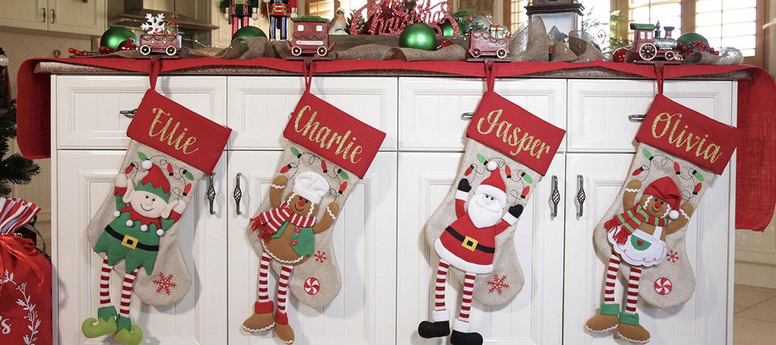Christmas Kitchen Personalised Stockings