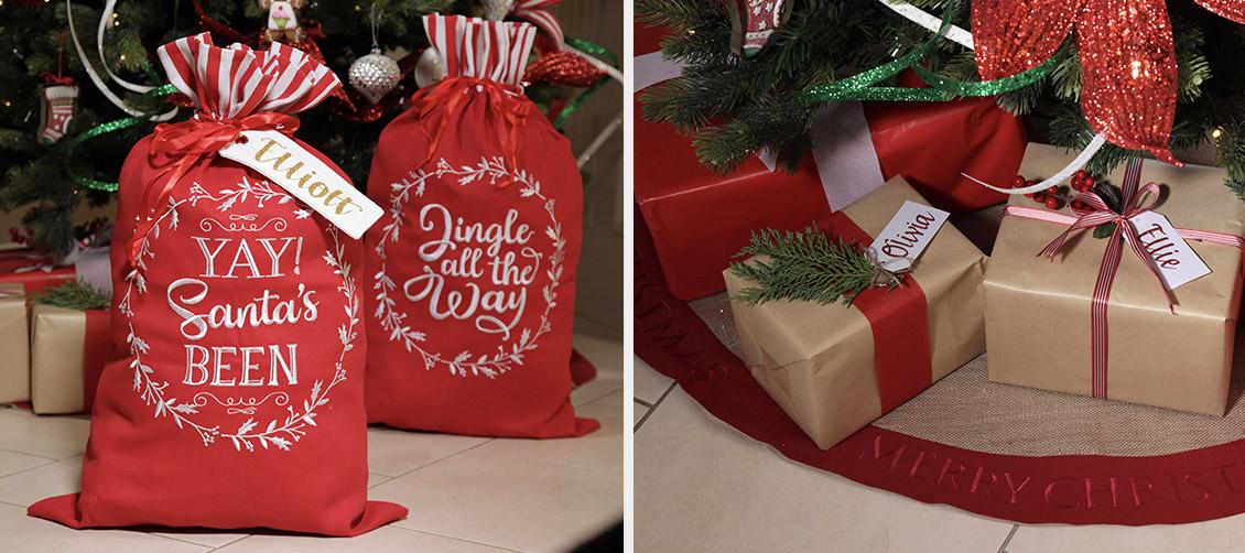Christmas Kitchen Presents and Sacks