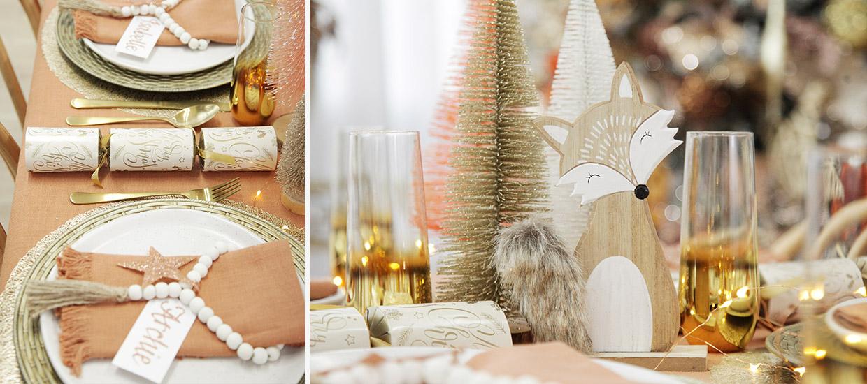 Bo Ho Glam Christmas Table Centrepiece