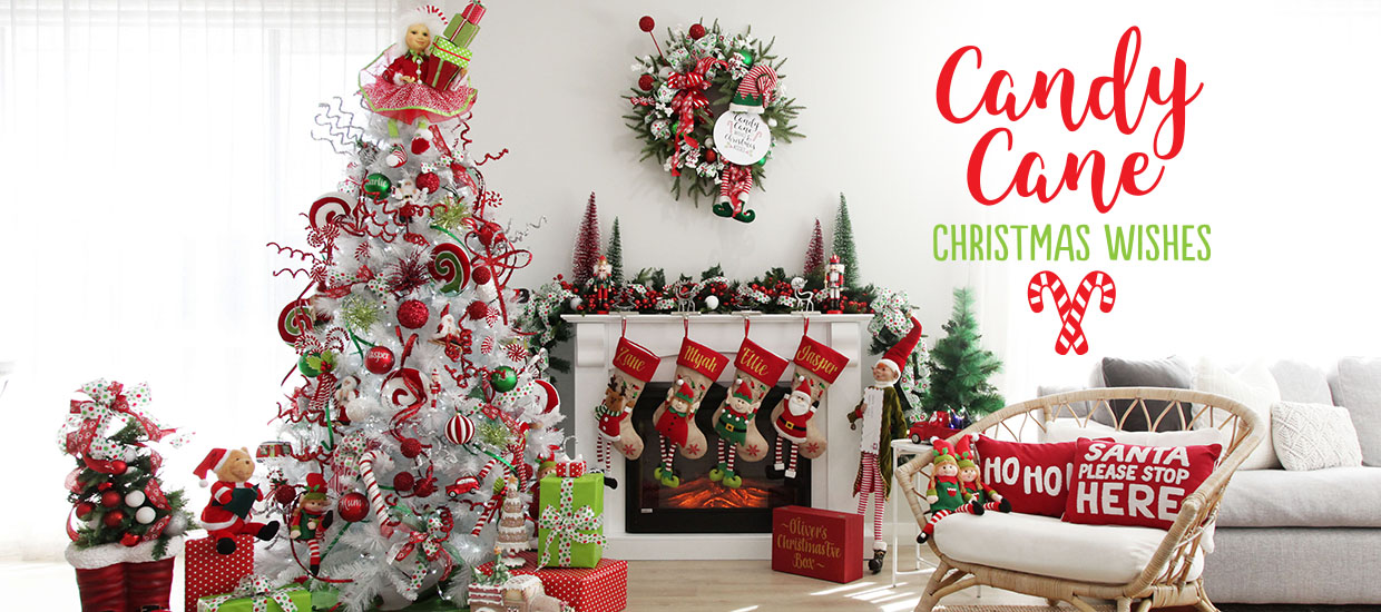 Candy Cane Christmas decorating theme