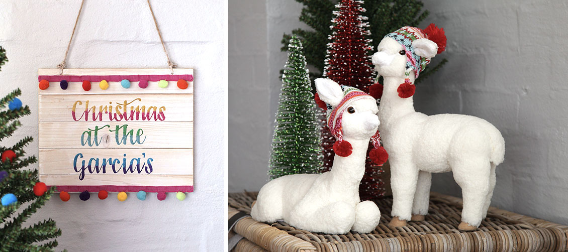 Christmas Fiesta Pom Pom Plaque