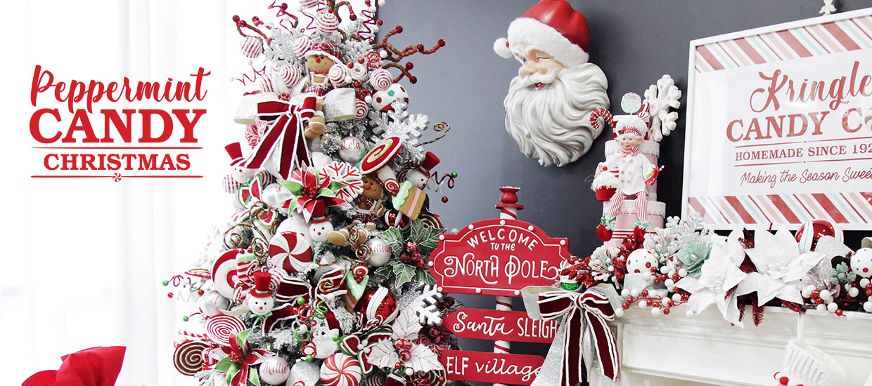 Peppermint Christmas Decoration Theme Collection