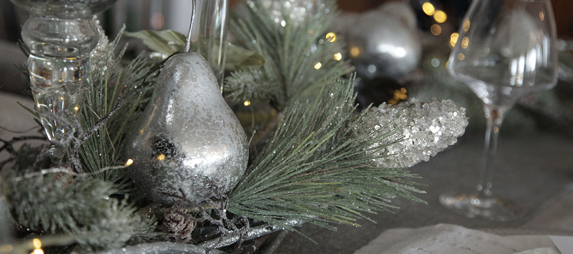 Silver & Sage Table Centerpiece