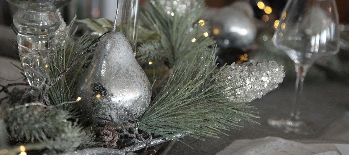 Silver & Sage Table Centerpiece