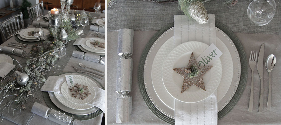 Silver & Sage Table Setting