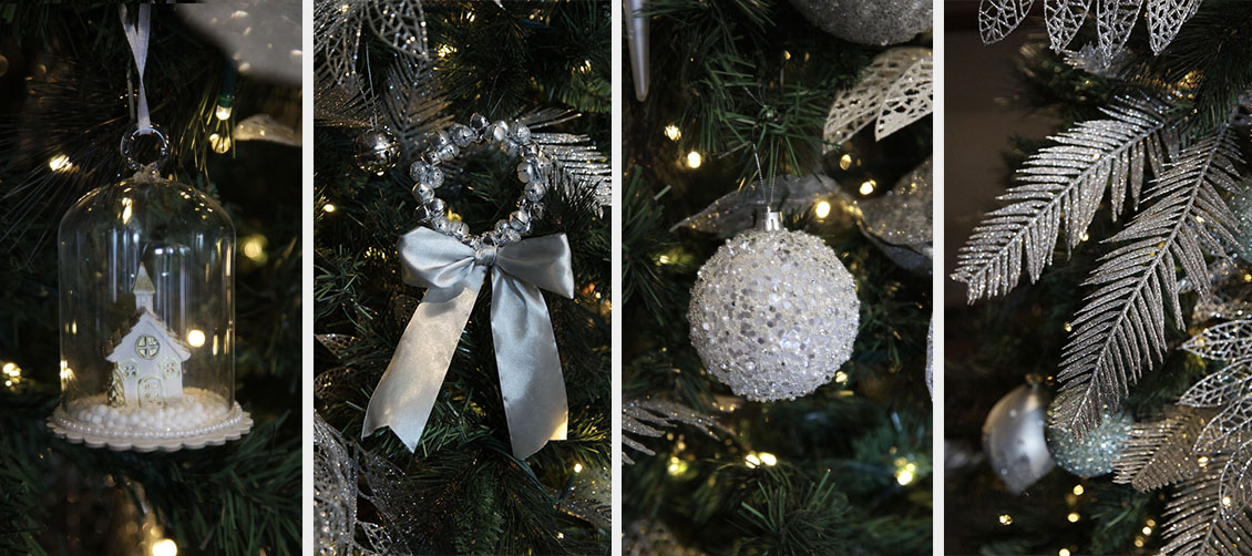 Silver & Sage Tree Decorations