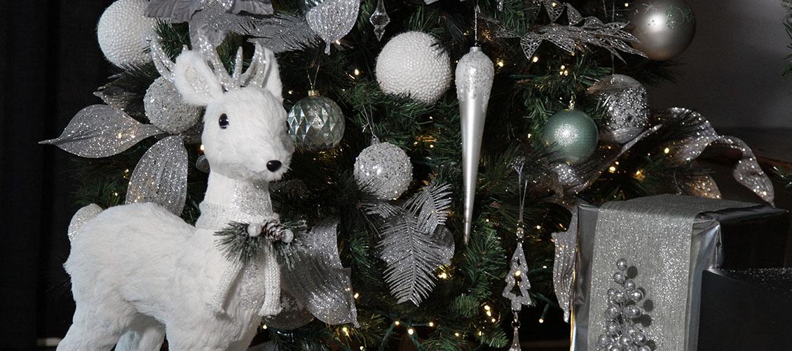 Silver & Sage Deer and Present