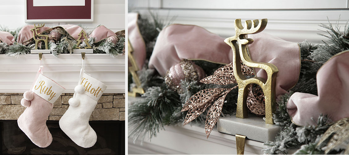 Sugar Plum Christmas Mantle