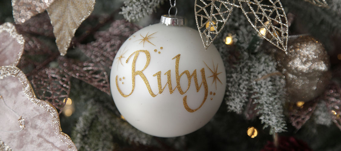 Sugar Plum Christmas Pearl Glass Bauble