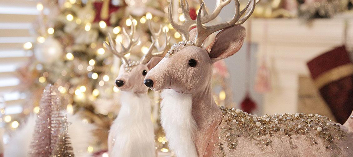 Sugar Plum Christmas Pink Reindeer