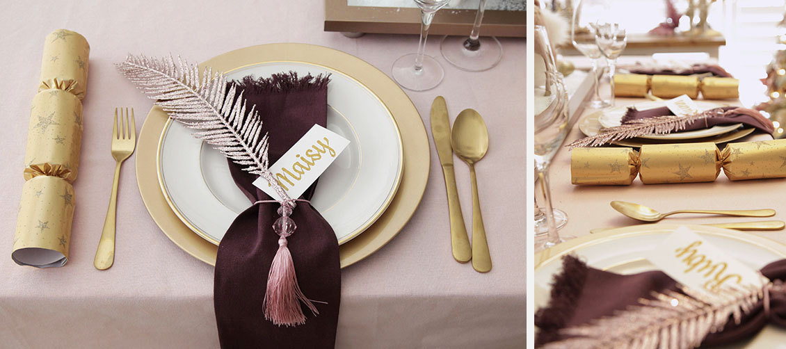 Sugar Plum Christmas Table Setting
