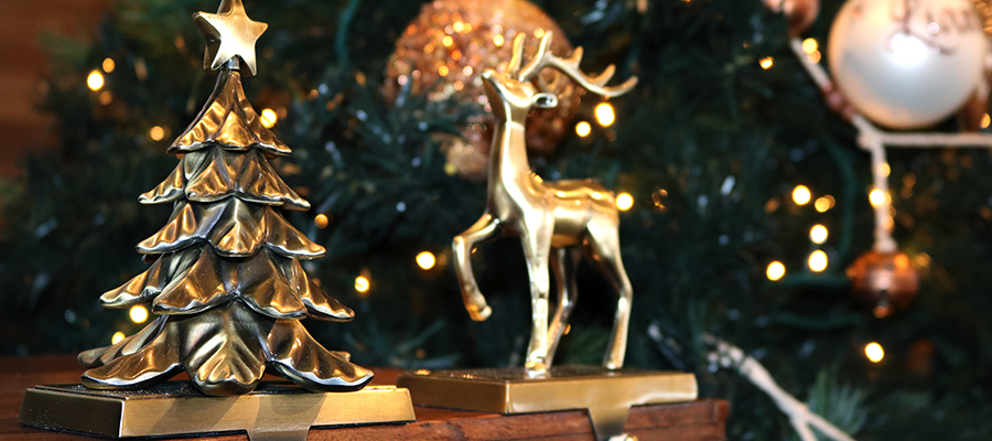 mixed metals christmas stocking hangers