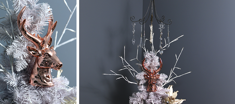 pastels and pearls christmas tree topper