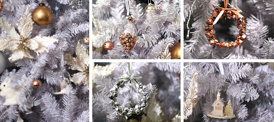 pastels and pearls christmas tree decorations