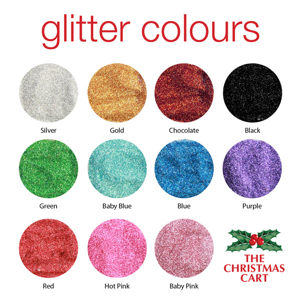 The Christmas Cart Glitter Colours