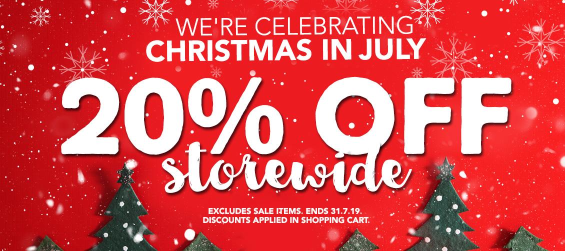 20% OFF STOREWIDE Christmas in July Sale