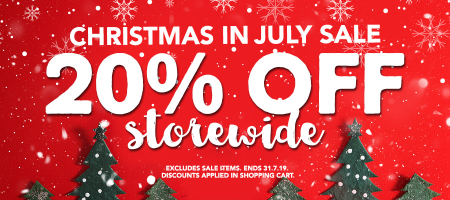 Christmas in July Sale - 20% OFF Storewide