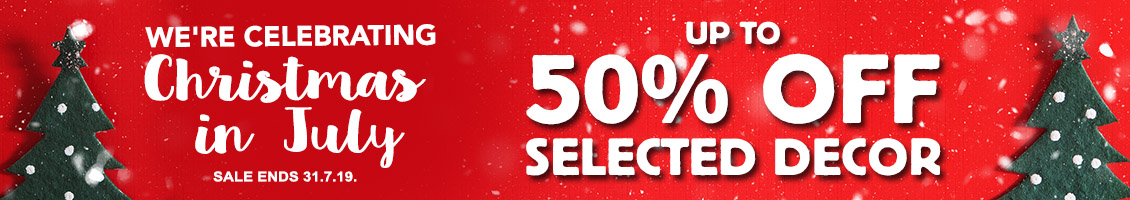50% Off SALE on Selected Christmas Decor