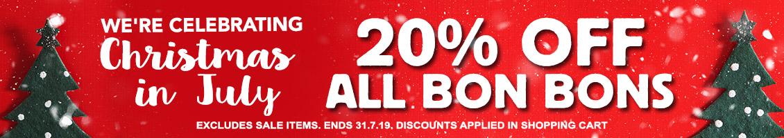 20% OFF ALL BON BONS