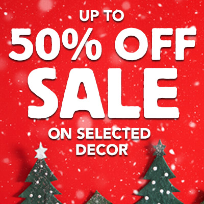 SALE 50% OFF Selected Christmas Decor