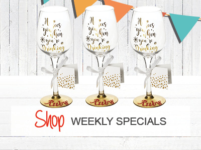 $5 Off Personalised Christmas Glasses