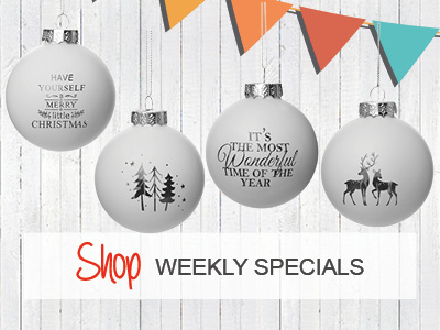 50% Off Silver and White Bauble Sets