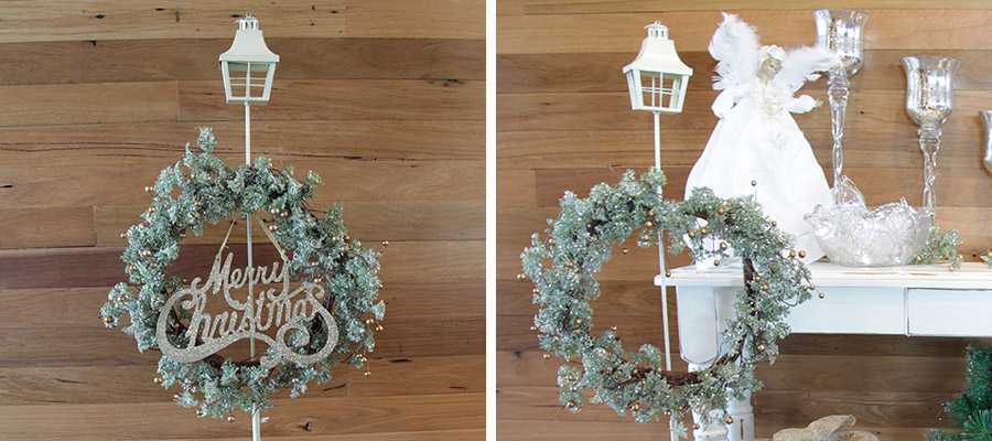 wreath table centrepiece
