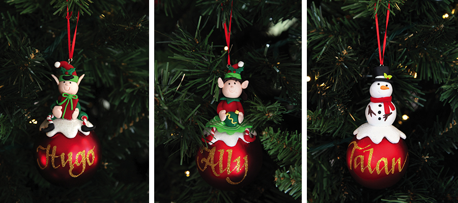 magical christmas morning personalised character baubles