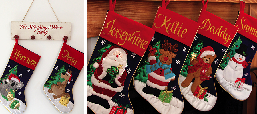 magical christmas morning personalised christmas stockings
