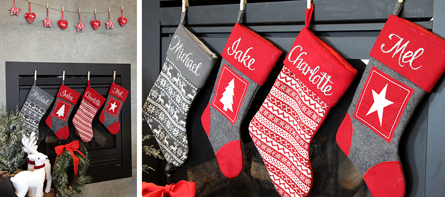 nordic christmas banner stocking