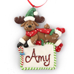 Christmas Reindeer Plaque Ornament